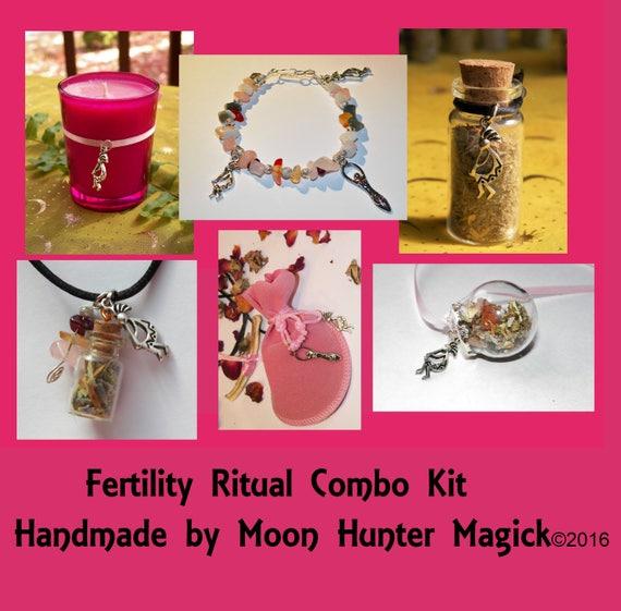Fertility Ritual Combo Kit Conception Pregnancy Ritual Altar Kit