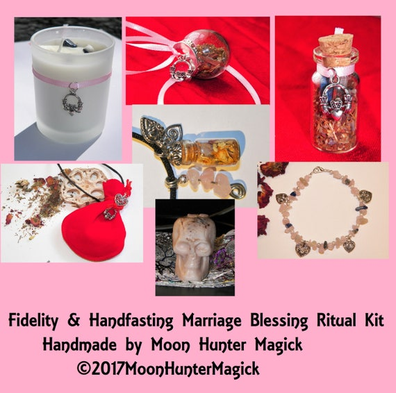 Fidelity & Marriage Blessings Handfasting Ritual Combo Kit Crystal Healing Kit