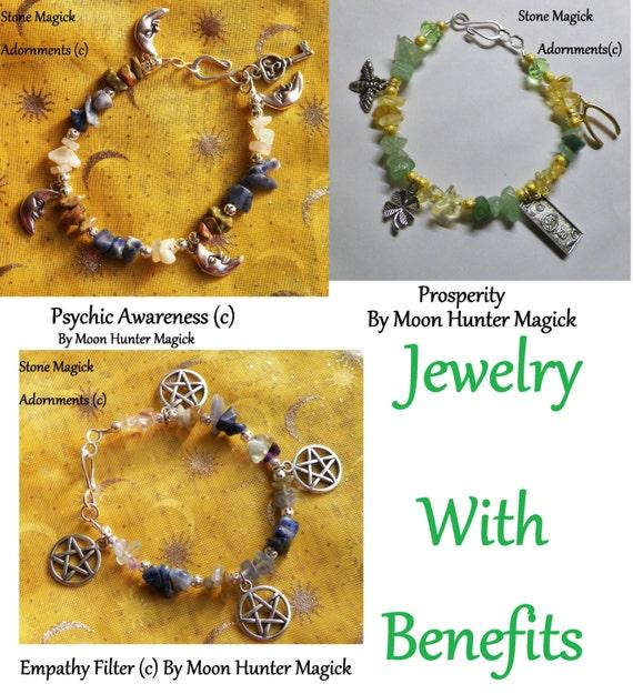 Custom Made Stone Magick Charm Bracelet Pick Your Intention