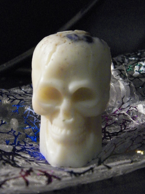 Wax Skull Study Guides Concentration Mojo Skull Wax Figurine Poppet Statue Focus Charm