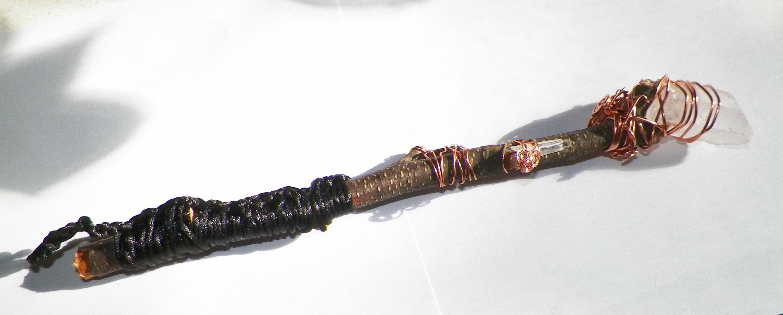 Swirl Barberry wand Energized wood wand Carved natural Barberry handmade wand Barberry wand pagan ritual wand 2019 APR 7