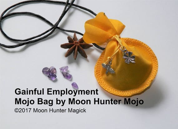 Gainful Employment Get A Job Mojo Bag Moon Hunter Mojo Hand Made