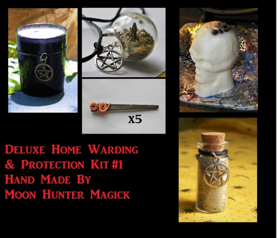 Deluxe Protection Combo Kit #1 Home Warding Protection Ritual Kit Ward Amulet Talisman