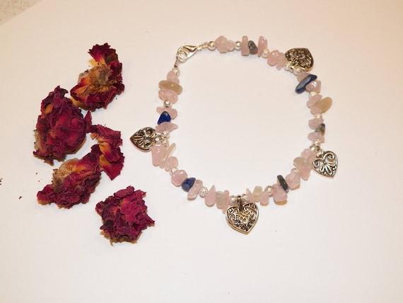Stone Magick Love Rose Quartz Bracelet Talisman Amulet Crystal Healing Charm