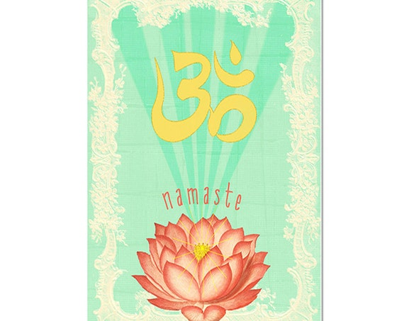 Lotus Magnet Art - Uplifting and Inspiring Magnet Refrigerator - Office Decor - Gift - Yoga Lover Gift