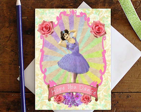 Ballerina Dancer Greeting Card - Dance Note card - Birthday Card  - Stationery - Blank Card - Gift for Her - Dance recital