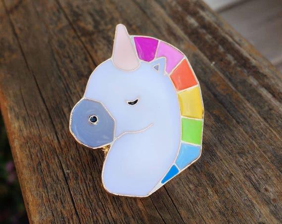 Unicorn Pin - Enamel Pin - Fashion Pin - Soft Enamel Pin - Magical Pin - Fantasy Enamel Pin - Stocking Stuffer - Limited Quantity