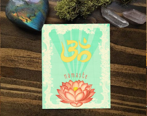 Namaste Greeting Card Handmade - Engagement Card - Thank You Card  Stationery - Namaste - Birthday Card - Yoga Lover Gift
