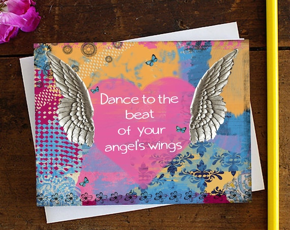 Greeting cards brooke leanne uplifting stationery giftware angel greeting card birthday card quote art greeting card stationery blank card m4hsunfo