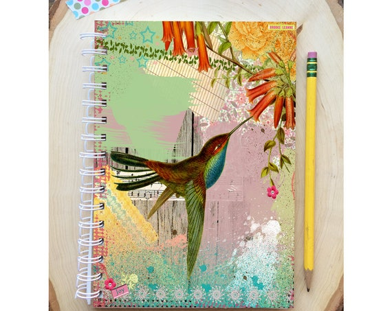 Hummingbird Spiral Bound Notebook - Bird Notebook - Bird Diary - Hard Notebook - Spiral Journal - Back to School - Gift - Journal