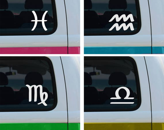 Zodiac Signs - Vinyl Decal - Car Decal - Laptop Sticker - Window Decal - Bumper Sticker - Astrology Sticker - Horoscope