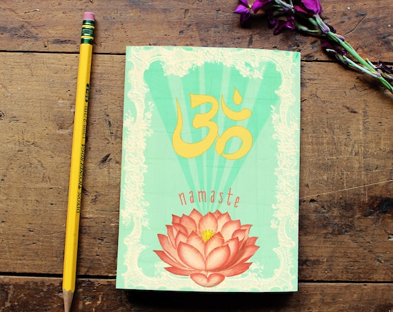 Lotus Flower Journal - Namaste Notebook - Notepad - Dairy - Writing - Yoga Lover - Daily Planner - Pocket Notebook