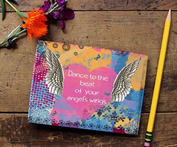 Angel Wing Journal - Handmade Notebook - Blank Journal - Writing journal - Sketchbook - Daily Planner - Writing