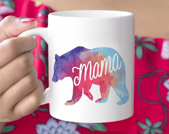 Mama Bear Mug. 11oz Coffee and Tea Mug. Mom Mug. Ceramic Mug. Mother's Day. Drinkware. Coffee Cup. Printed in USA