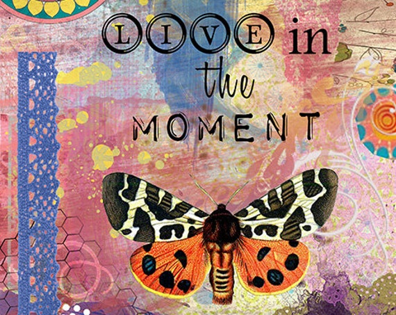 Butterfly Art Print - Inspirational Quote Art - Wall Decor - Yoga  - Colorful Art