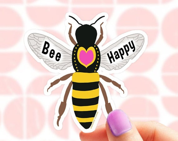 Bee Sticker | Bee Vinyl Sticker for Laptop | Be Kind Sticker | Water Bottle Sticker | Bee Gift | Honey Bee Sticker | Bee Decal | Nature