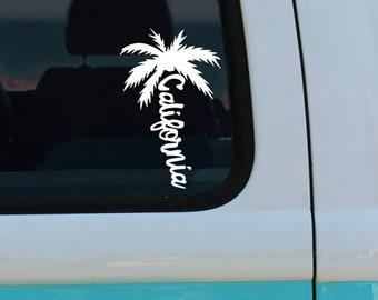 9b4890e710c California Palm Tree - Vinyl Decal - California Car Decal - Laptop Sticker  - Window Decal - Bumper Sticker - CA - California sticker