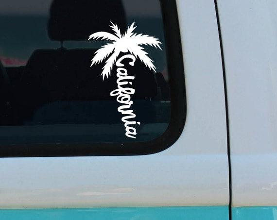 California Palm Tree - Vinyl Decal - California Car Decal - Laptop Sticker - Window Decal - Bumper Sticker - CA - California sticker