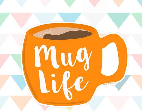 Coffee Sticker Decal, Vinyl Stickers for Laptops, Car Decals, Coffee Lover, Coffee and Tea, Tea Lover, Teacher Sticker, Mug Sticker