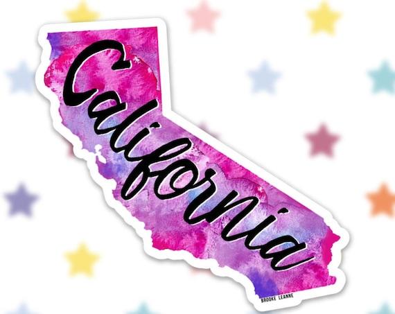 California Sticker Decal, Vinyl Stickers for Laptops, Car Decals, Beach Sticker, Phone Sticker, CA Sticker, San Diego, Los Angeles