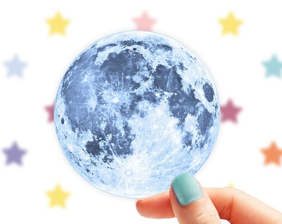 Moon Sticker | Full Moon Vinyl Sticker for Laptop  | Car Decal Full Moon Sticker | Moon Phase Sticker  | Space Sticker  | Astrology Sticker