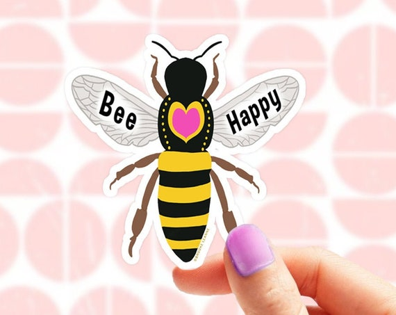 Bee Sticker. Bee Vinyl Sticker for Laptop. Be Kind Sticker. Water Bottle Sticker. Bee Gift. Honey Bee Sticker. Bee Decal for Car. Nature