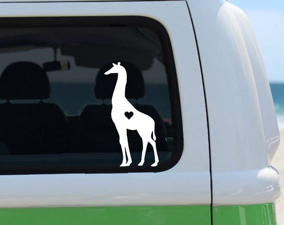 Giraffe Decal - Vinyl Decal - Car Decal - Laptop Sticker - Window Decal - Bumper Sticker - Giraffe Lover - Giraffe Sticker