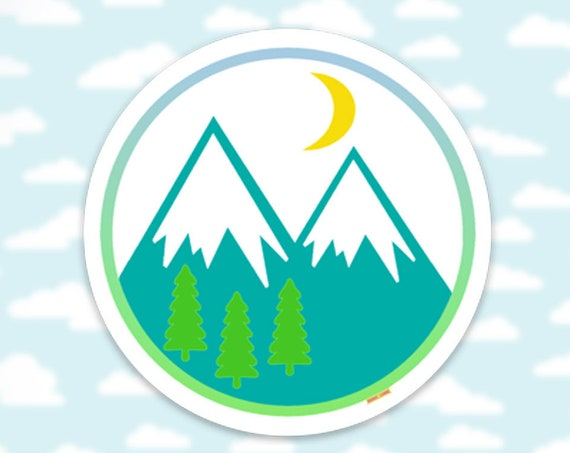 Mountain Sticker Decal, Adventures Sticker, Car Sticker, Nature Sticker, Mountains sticker, Hiking sticker, Colorado, Backpacking