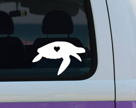 Sea Turtle Love  - Vinyl Decal - Car Decal - Laptop Sticker - Window Decal - Bumper Sticker - Turtle Decal - Turtle sticker
