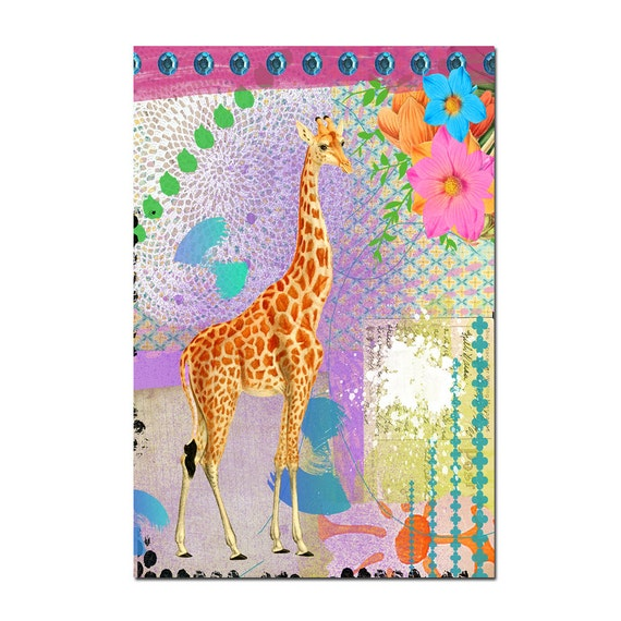 Giraffe Magnet Art - Uplifting and Inspiring Magnet Refrigerator - Office Decor - Gift - Animal Magnet