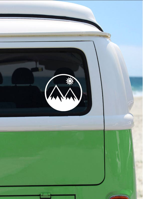 Mountain Decal - Vinyl Decal - Car Decal - Laptop Sticker - Window Decal - Bumper Sticker - Mountains Decal - Mountain Life - Sunshine