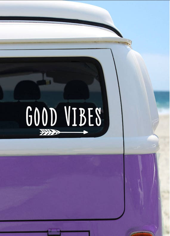 Good Vibes - Vinyl Decal - Car Decal - Laptop Sticker - Window Decal - Bumper Sticker - Quote Decal - Positive Vibes Sticker - Arrow Sticker