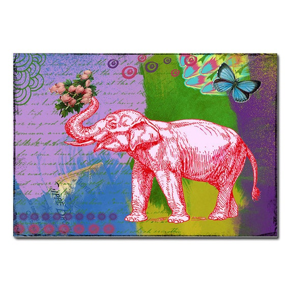 Elephant Magnet Art - Uplifting and Inspiring Magnets Refrigerator - Office - Gift