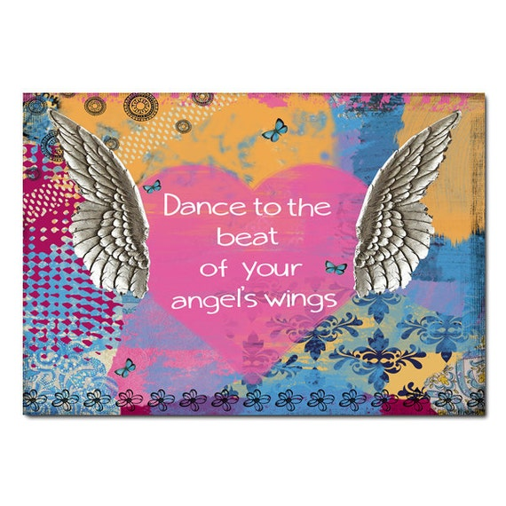 Angel Wings Magnet Art - Uplifting and Inspiring Magnet Refrigerator - Office Decoration - Gift - Angel Gift