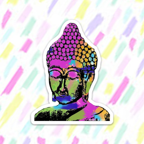Buddha Sticker Decal, Vinyl Stickers for Laptops, Car Decals, Zen Sticker, Phone Sticker, Yoga Sticker, Buddha, Meditation