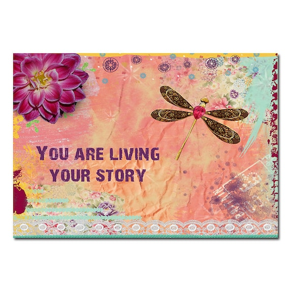 Dragonfly Magnet Art - Uplifting and Inspiring Magnets Refrigerator - Office Decoration - Gift - Quote Art