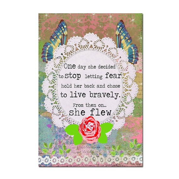 Quote Inspiring Magnet Art - Uplifting and Inspiring Magnet Refrigerator - Office Decoration - Gift for her