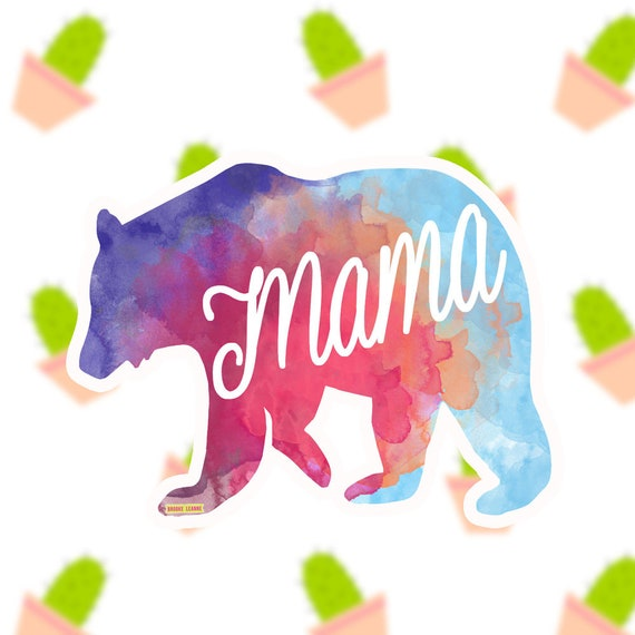 Mama Bear Sticker Decal, Vinyl Stickers for Laptops, Car Decals, Mama Sticker, Phone Sticker, Babyshower Gift, New Mom, Mother's Day