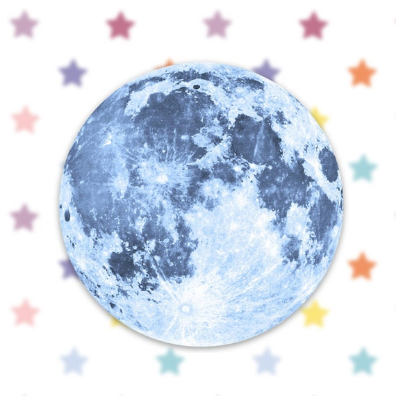 Moon Sticker Decal, Vinyl Stickers for Laptops, Car Decals, Full Moon Sticker, Moon Phase Sticker, Space Sticker, Astrology