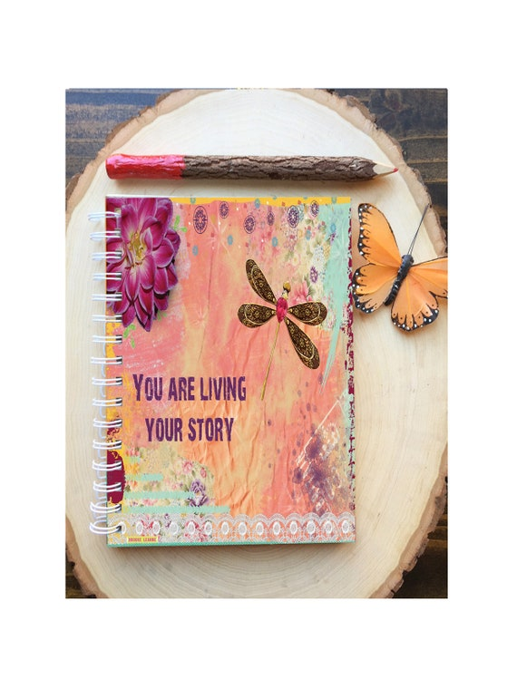 Your Story Spiral Bound Notebook - Living your Story - Hard Notebook - Spiral Journal - Back to School - Gift - Journal - Quote Diary