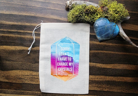 Crystal Muslin Bags - Art Bag - Pouch - Gift Bag - 5x7 bag - Crystal Pouch - Party Favor - Packaging - Crystal Bag