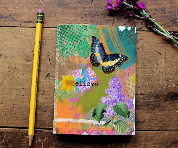 Butterfly Journal - Notebook - Paper - Notepad - Diary - Daily Planner - Writing - Notes - Butterfly