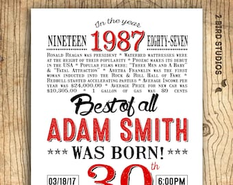 surprise 30th birthday invitation casino theme party etsy