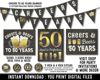 50th Birthday Party Decorations For Men Etsy