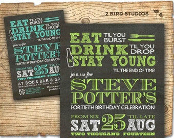 30th birthday invitation male birthday party invitations etsy