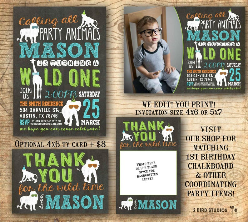 Party Animal Invitation Birthday