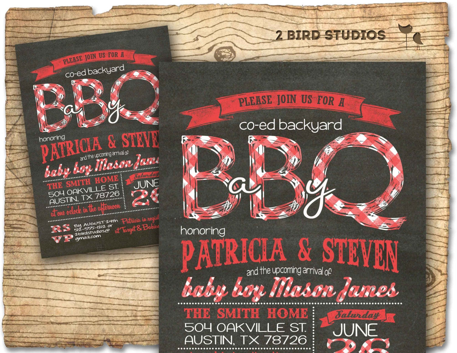 Baby Q Baby Shower Invitation BBQ Baby Shower Coed Couples