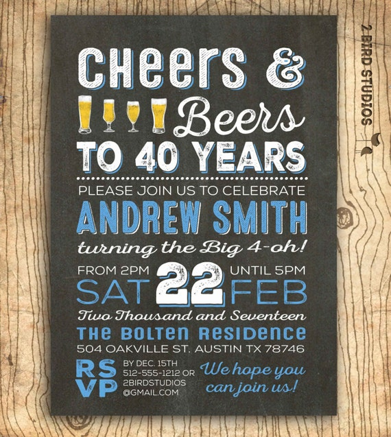 40th birthday invitation surprise 40th birthday invite 40th