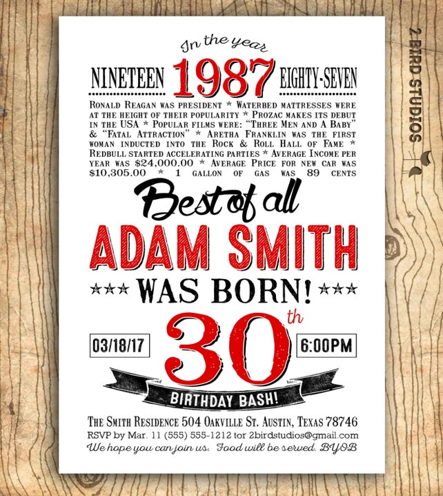 Results For Surprise 30Th Birthday Party Invitations Him