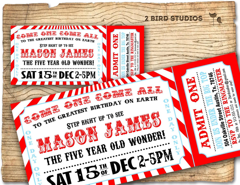 Circus invitation Vintage circus Birthday invite | Etsy